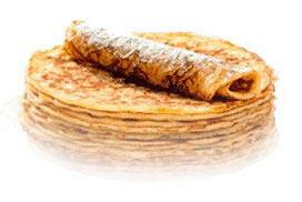 Kleine speltpannekoeken gebakken met de Voedingswaar pannenkoekenmix