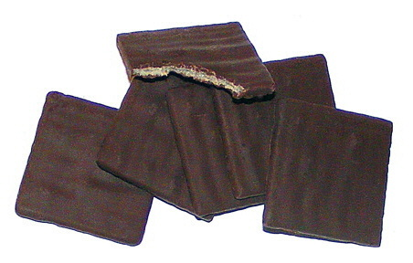 flinterdunne spelt-chocoladetabletjes